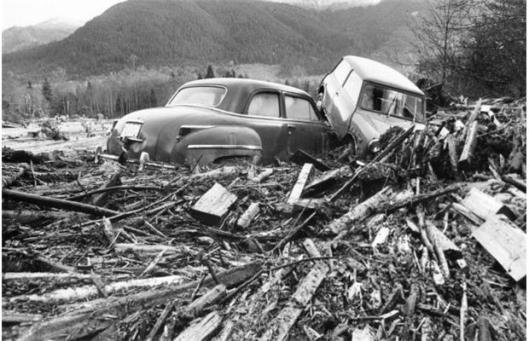 Flom i Fraser Valley, 1977 (Vancouver Sun)
