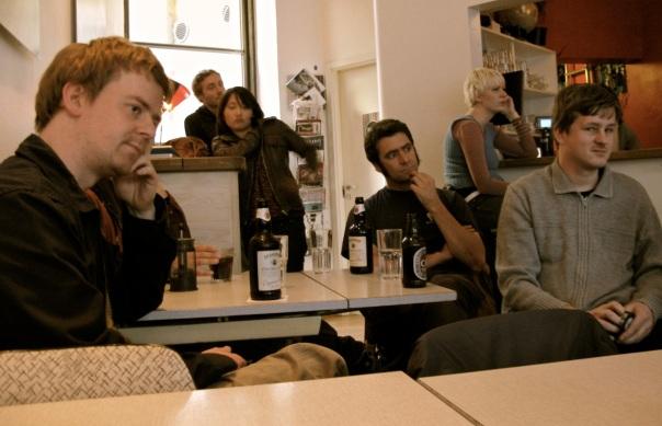 Typisk norsk undergrunn: (fra venstre): Per Gisle Galåen, Fredrik Ness Sevendal, André Borge). Foto: Bjørn Hammershaug, oktober 2008